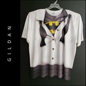 Gildan Man Batman T-shirt Halloween Costume Top